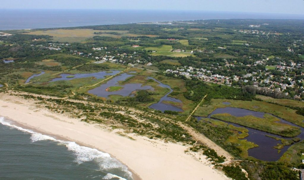 Cape May photo taken from an aerial view shows the New Jersey shore just before Hurricane Sandy.